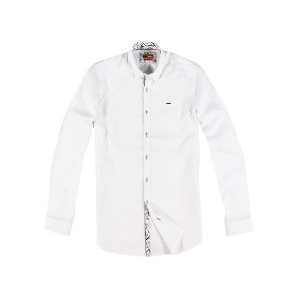 Modisches Langarmhemd mit Details in floralem Design
