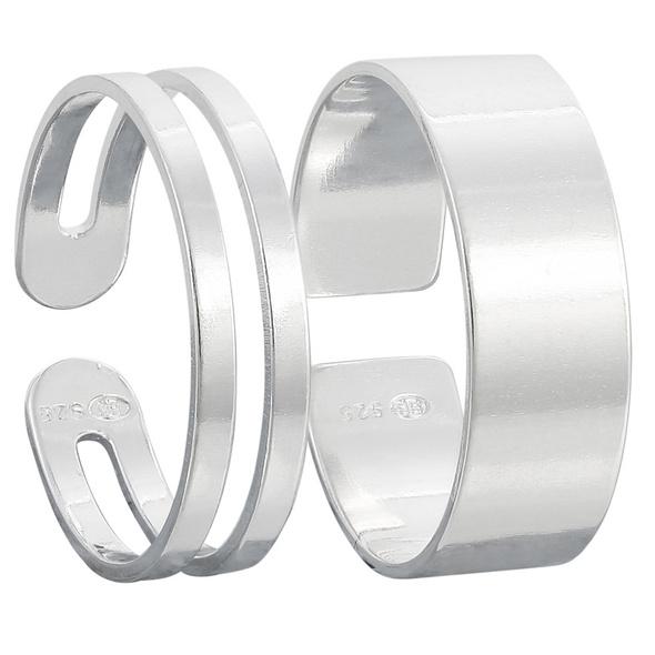Zehenring-Set - Changing Silver