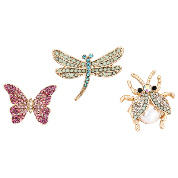 Broschen-Set - Flying Insects
