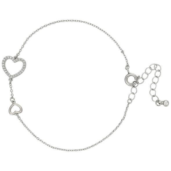 Armband mit Anhänger - Shiny Hearts