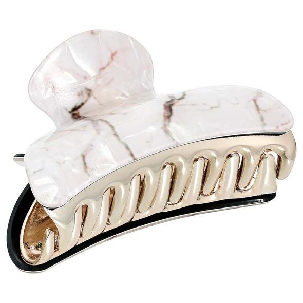 Haarklammer - White Marble