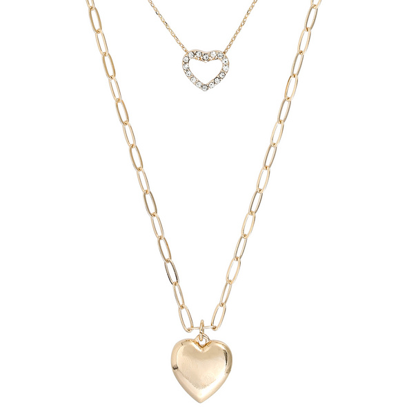 Layering Kette - Two Hearts