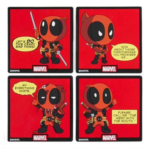 Marvel Deadpool - Untersetzer Chibi