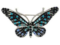 Brosche  -  Blue Butterfly