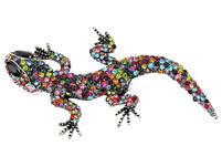Brosche - Happy Gecko